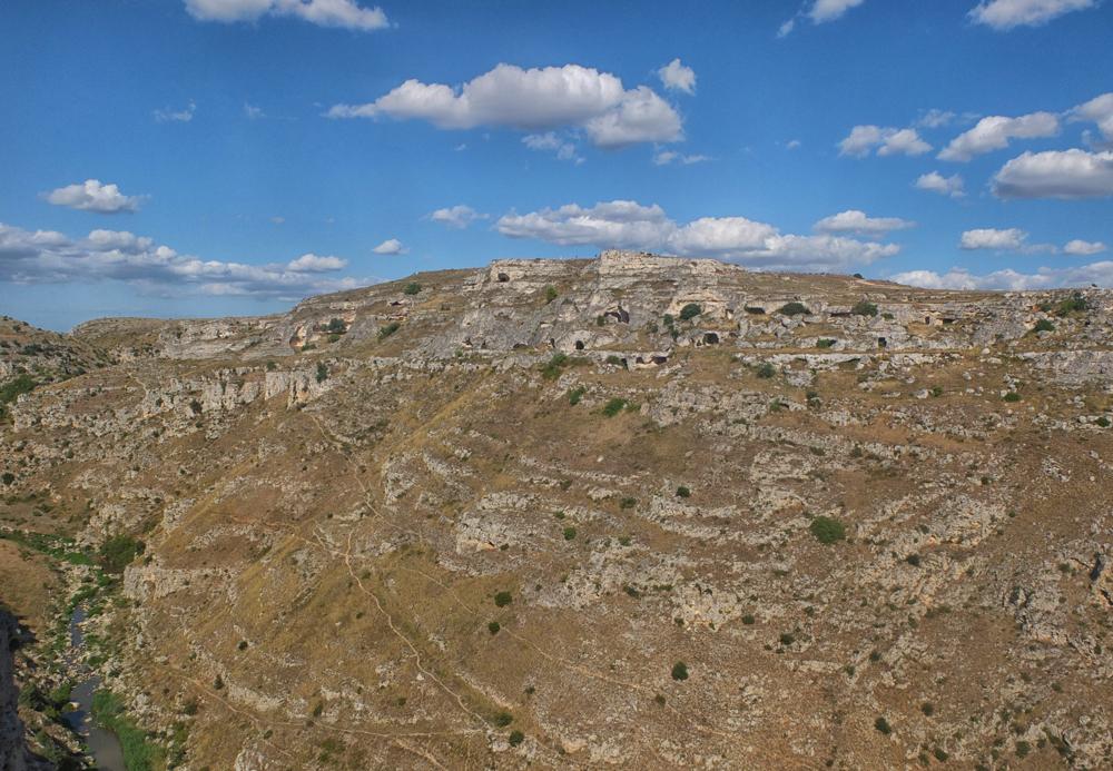 Le canyon et la Gravina à Matera