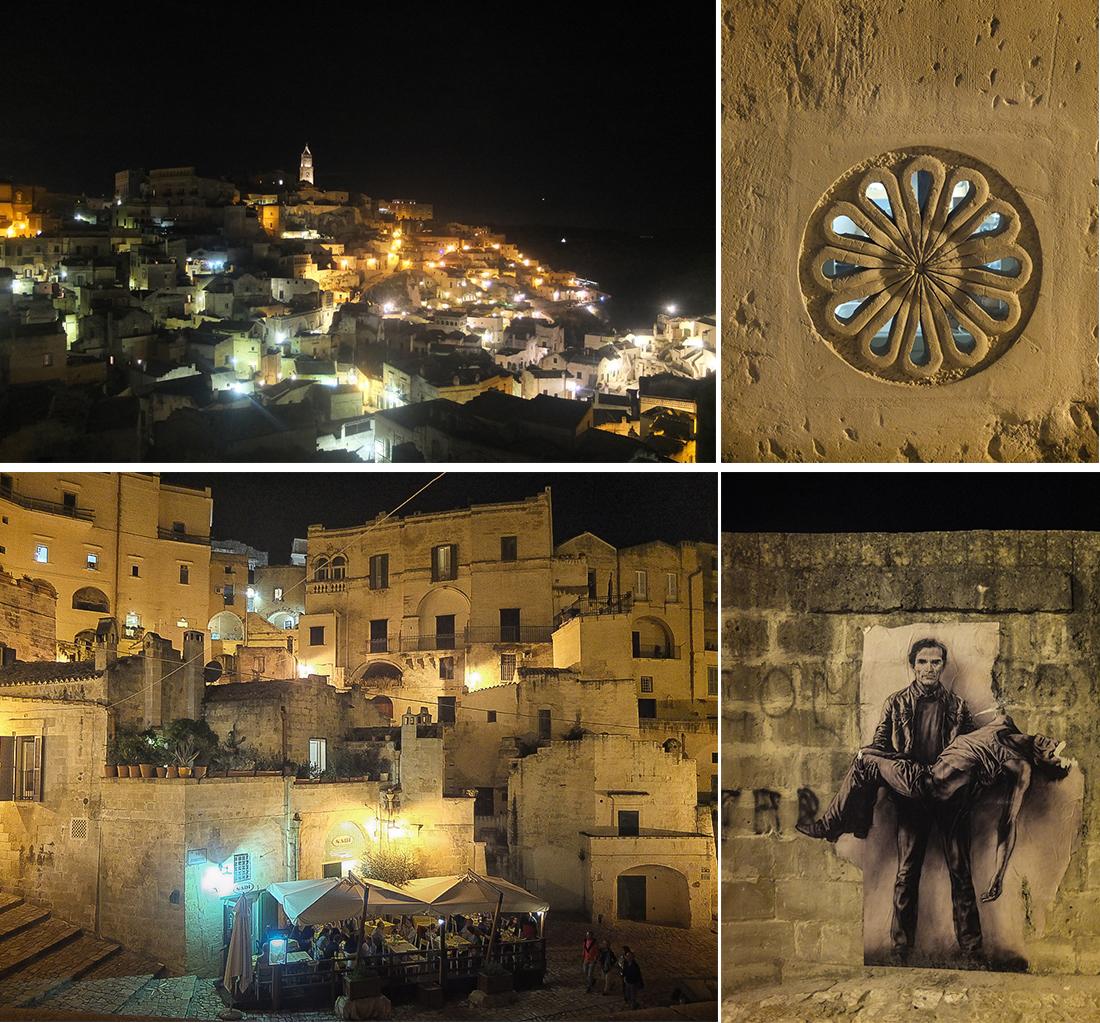 Matera et les Sassi la nuit