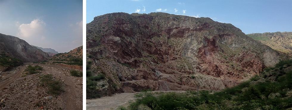 Salt range de Khewra et mine de sel rose de l'Himalaya