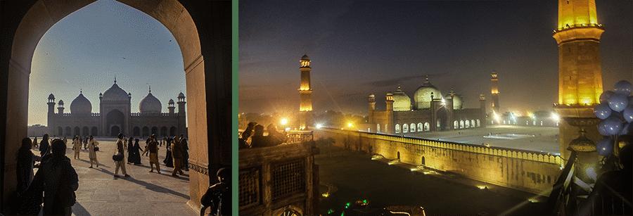 Mosquée Badshahi et vue depuis le Coco's Den
