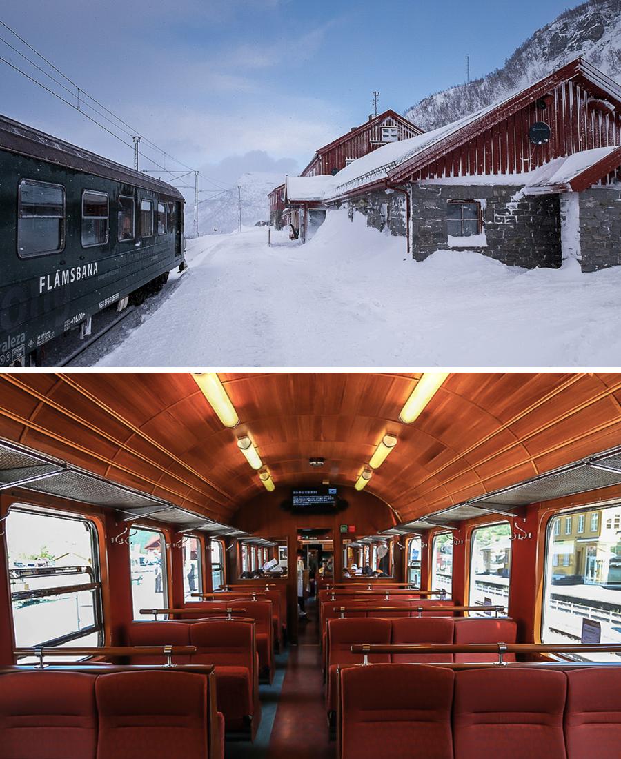 Séjour en train en Norvège. Myrdal et la Flåmsbana, le petit train de Flåm
