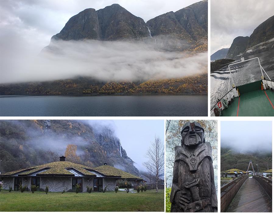 Le Nærøyfjord, et le petit village de Gudvangen, Norvège