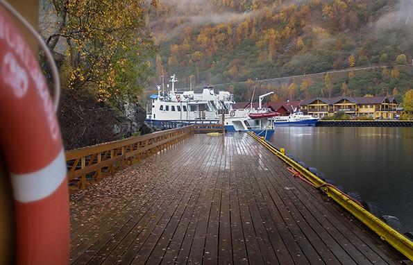 Le port de Flam en Norvege