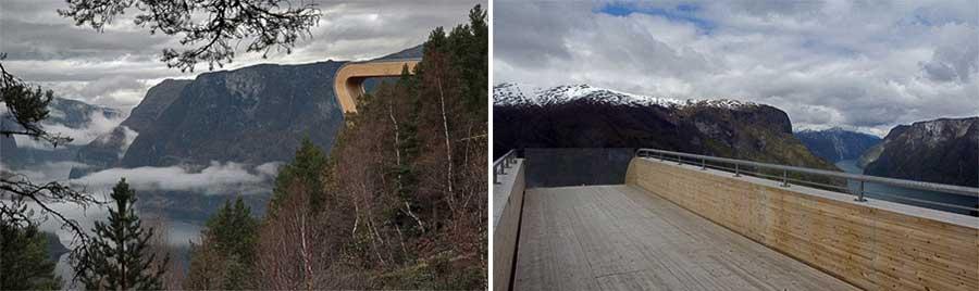 le point-de-vue-de-Stegastein-fjords Aurland-Norvege