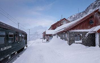 Train touristique Flam en Norvège