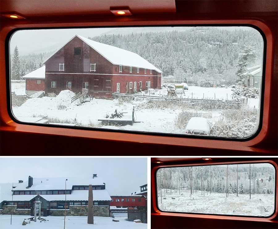 voyage en train Oslo Flam Norvège