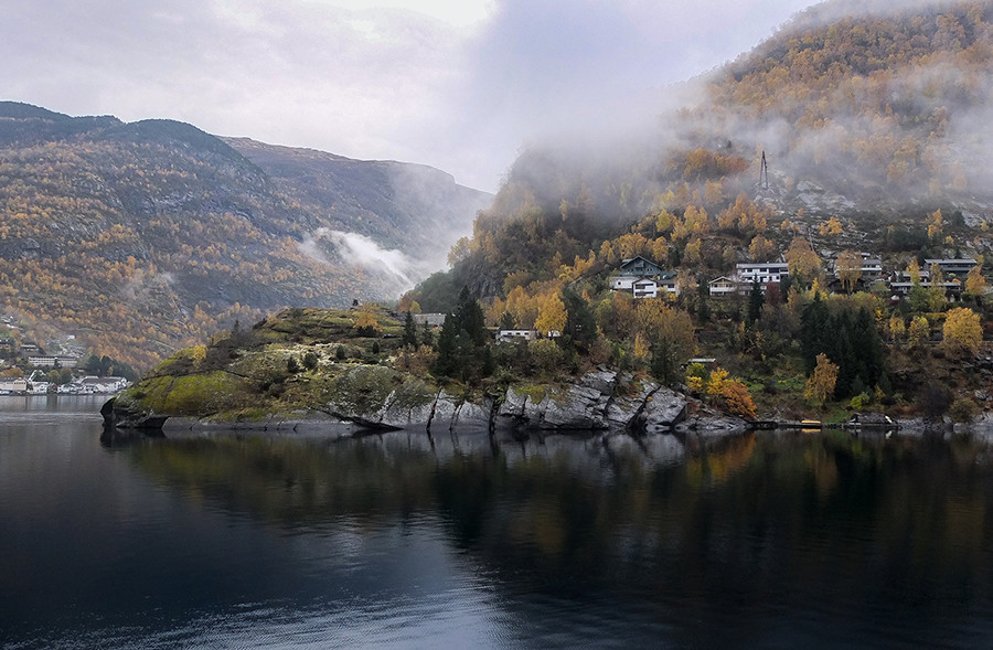 le Nærøyfjord fjord de Norvege UNESCO