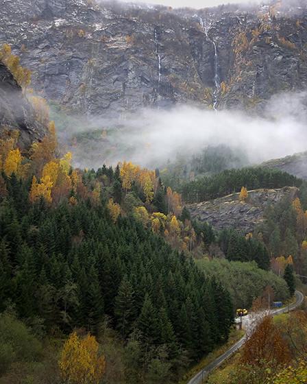 Paysages depuis le train panoramique pour flam