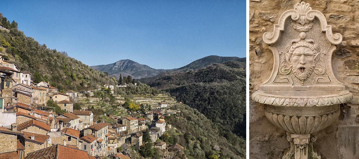 Les villages pittoresques d'Apricale et Dolceacqua en Italie