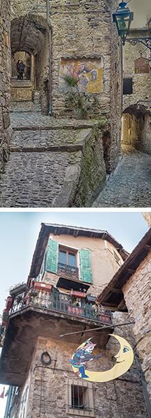 Les ruelles du village d'Apricale