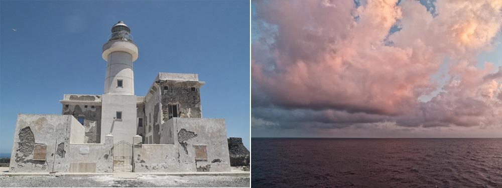 Vue depuis le phare de la Punta Spadillo Pantelleria