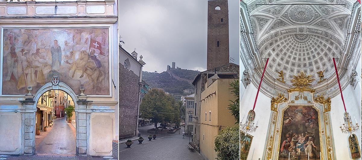 Noli château Ursino et cathédrale San Pietro