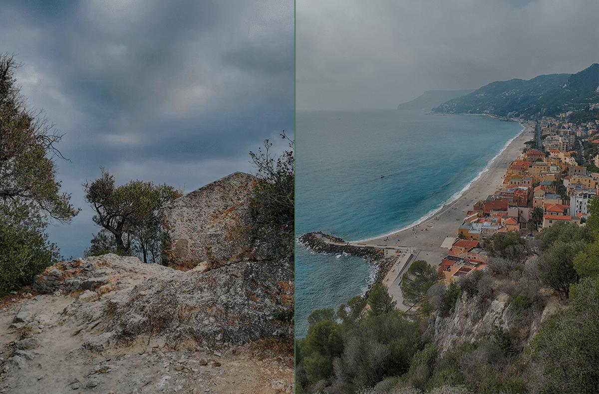 Vue de la Punta Crena sur Capo Noli et Varigotti