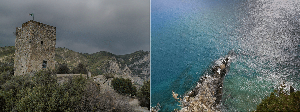 La punta Crena, une des plus belles plages de Ligurie en Italie