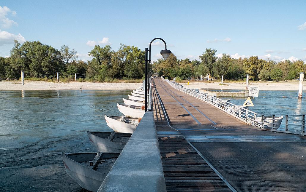 Ponte delle barche à Bereguardo Lombardia