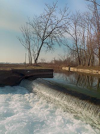 Le canal de Vigevano. Piste cyclable