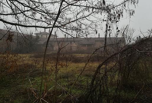 vue de la Sforzesca dans le brouillard