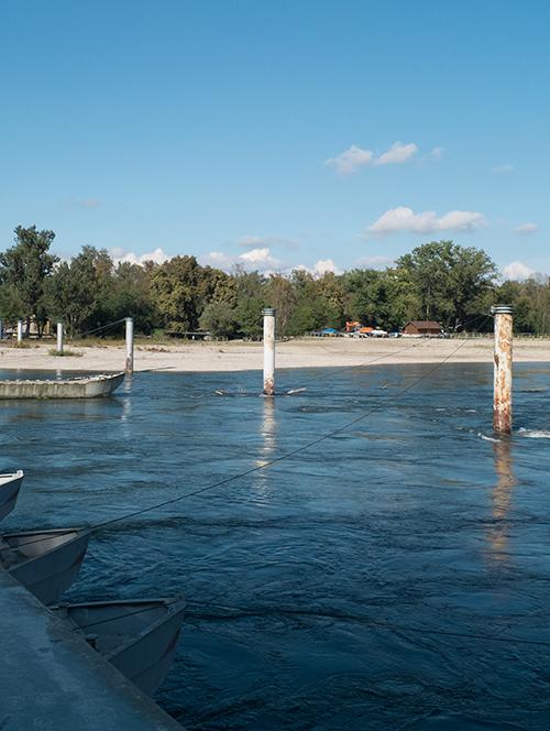 Vue depuis le Ponte delle barche à Bereguardo Lomellina