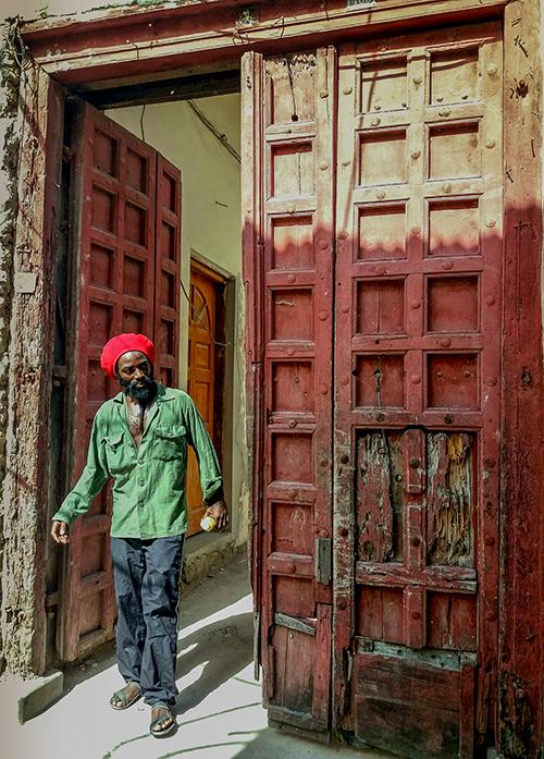 un habitant de l'île de zanzibar