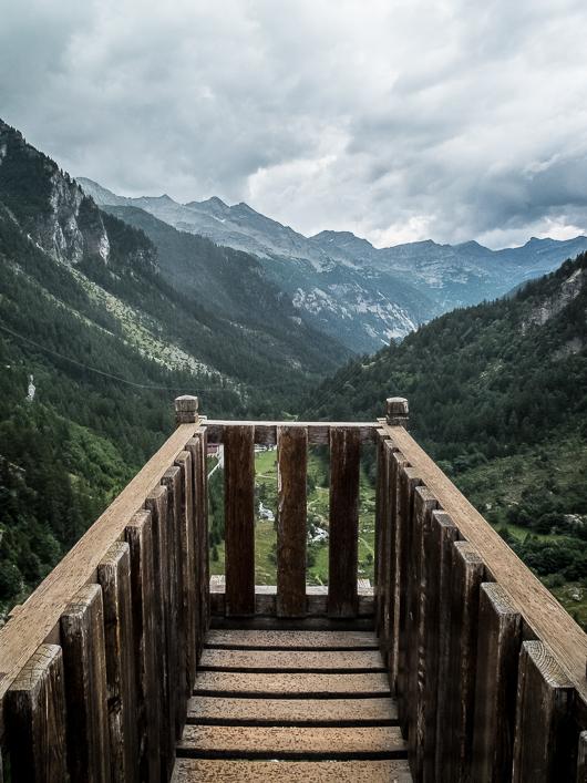Point de vue sur les Alpes Italiennes