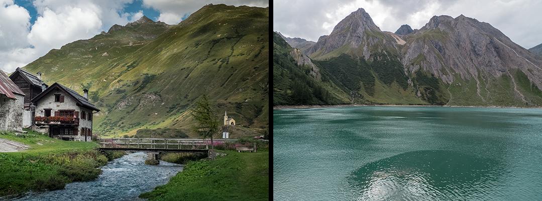 Villages typiques du val formazza et les lacs alpins
