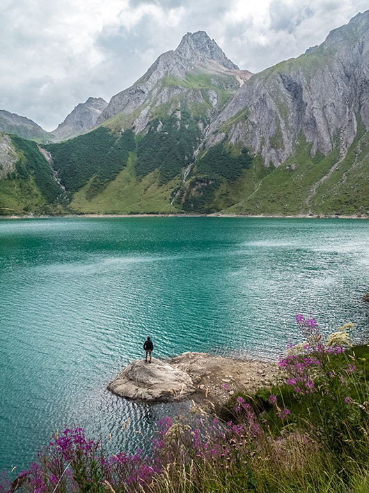 Le lac de Morasco en Italie